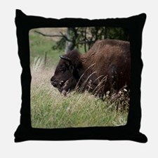 Buffalo I Throw Pillow