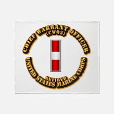 USMC - CW3 - Retired Throw Blanket