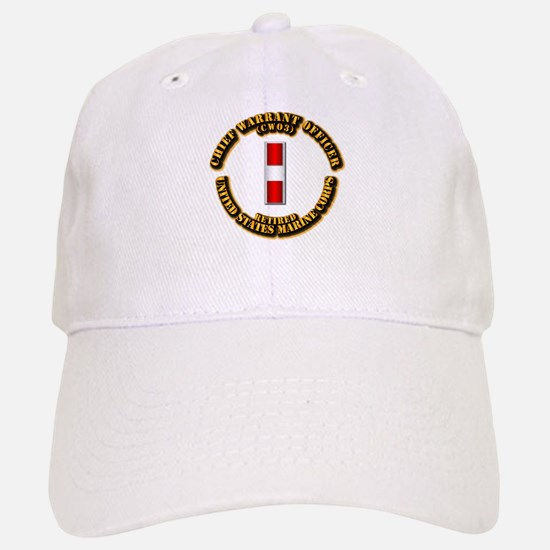 USMC - CW3 - Retired Baseball Baseball Cap