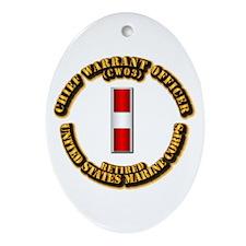 USMC - CW3 - Retired Ornament (Oval)