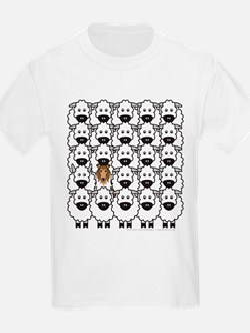 Collie and Sheep Kids T-Shirt
