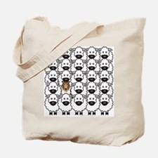 Collie and Sheep Tote Bag