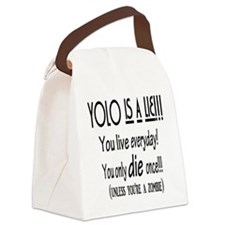YOLO Zombie Canvas Lunch Bag