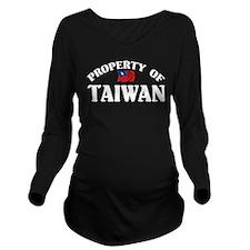 Property Of Taiwan Long Sleeve Maternity T-Shirt