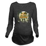 Palm Tree Thailand Long Sleeve Maternity T-Shirt