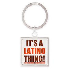 latino thing cp Square Keychain