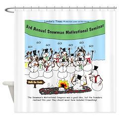 Snowman Seminar Shower Curtain