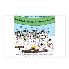Snowman Seminar Postcards (Package of 8)