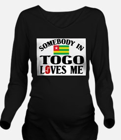 Somebody In Togo Long Sleeve Maternity T-Shirt