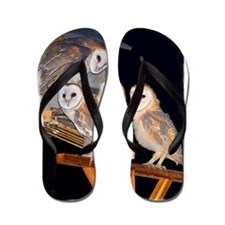 3-4owls_adj Flip Flops