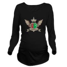 Turkmenistan Emblem Long Sleeve Maternity T-Shirt