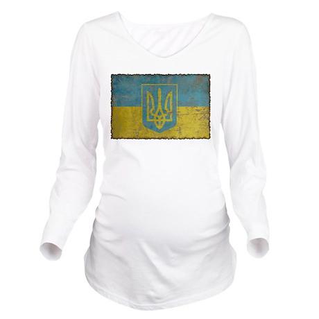 Vintage Ukraine Long Sleeve Maternity T-Shirt