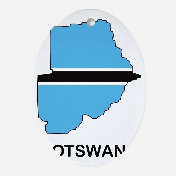 Botswana1 Oval Ornament