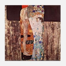 Gustav Klimt Art Tile Coaster The 3 Ages of Women