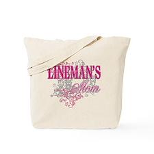 linemans mom_black_ Shirt Tote Bag