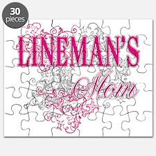 linemans mom_black_ Shirt Puzzle