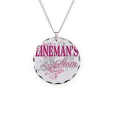 linemans mom_black_ Shirt Necklace