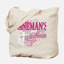linemans mom black shirt with pole Tote Bag