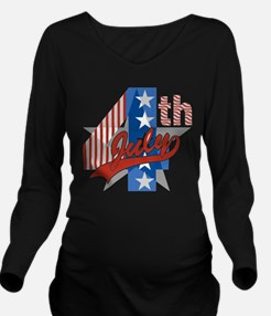 4th Of July Long Sleeve Maternity T-Shirt