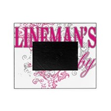 linemans baby black shirt with pole Picture Frame