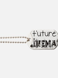 future lineman black Dog Tags