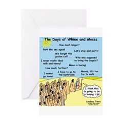 Days of Whine and Moses Greeting Card