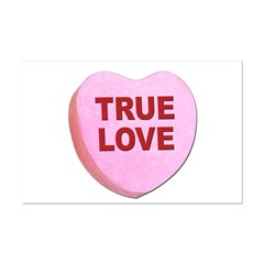 True Love Candy Valentine Heart Posters