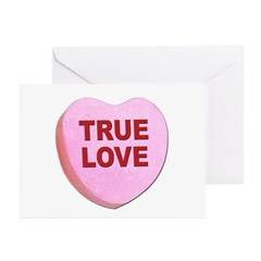True Love Candy Valentine Heart Greeting Cards (Pa