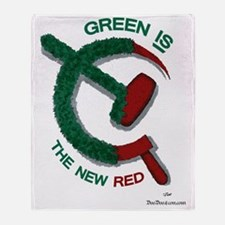 greenandred-LARGE Throw Blanket