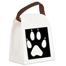 wolftrackovalsticker Canvas Lunch Bag