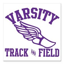 "track-and-field-varsity- Square Car Magnet 3"" x 3"""