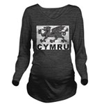 Vintage Cymru Long Sleeve Maternity T-Shirt