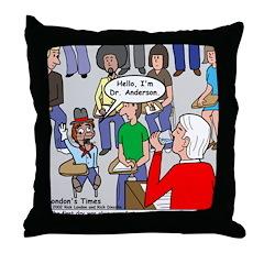 Ventriloquism School Throw Pillow