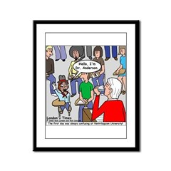 Ventriloquism School Framed Panel Print