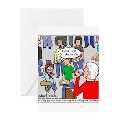 Ventriloquism School Greeting Card