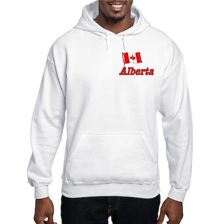 Canada Flag - Alberta Text Hooded Sweatshirt