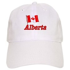 Canada Flag - Alberta Text Baseball Cap