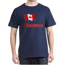 Canada Flag - Edmonton Text T-Shirt