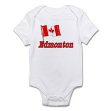 Canada Flag - Edmonton Text Infant Bodysuit