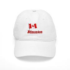 Canada Flag - Edmonton Text Baseball Cap