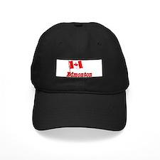 Canada Flag - Edmonton Text Baseball Hat