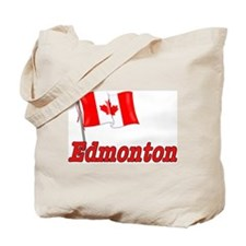 Canada Flag - Edmonton Text Tote Bag