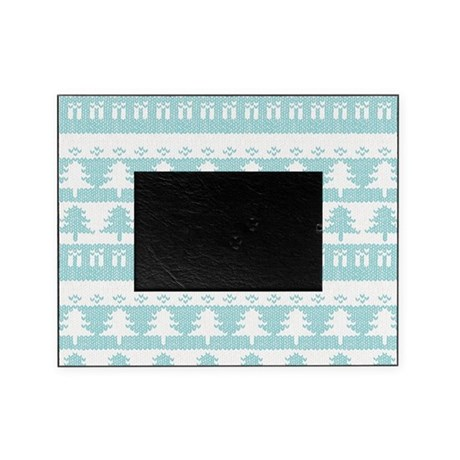 Blue Pine Trees Christmas Sweater Pa Picture Frame