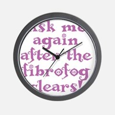 fibrofog_purple Wall Clock
