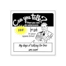 "can-you-talk Square Sticker 3"" x 3"""