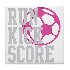 run-kick-score-darks Tile Coaster