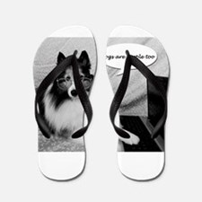 Dogs Are People Too Flip Flops