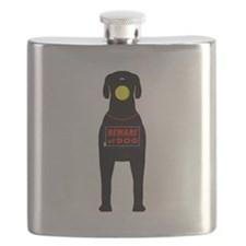 Beware of Dog with ball Flask