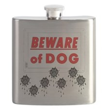 Beware of Dog Muddy Paws Flask