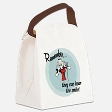 smile Canvas Lunch Bag